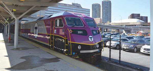 Image of MBTA locomotive